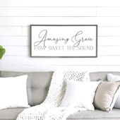 Amazing Grace Wooden Wall Sign