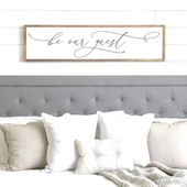 Be Our Guest Script Wooden Wall Sign