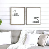 Be Still My Soul Wooden Wall Sign