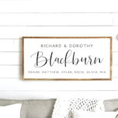 Family Names Wooden Wall Sign