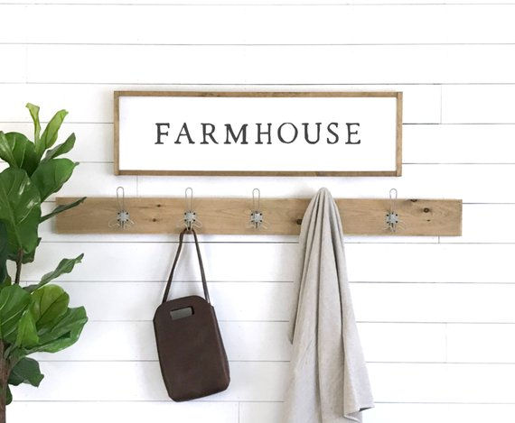 Farmhouse Wooden Wall Sign - Wall Sticker Outlet