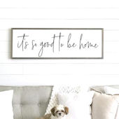 Good to Be Home Wooden Wall Sign