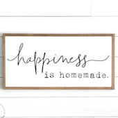 Happiness is Homeade Wooden Wall Sign