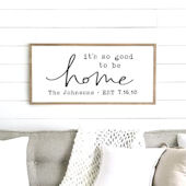 Good to Be Home Custom Name Wooden Wall Sign