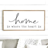 Home Is Where The Heart Is Wooden Wall Sign