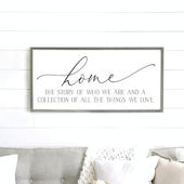 The Story of Who We Are Wooden Wall Sign
