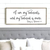 I Am My Beloveds Wooden Wall Sign