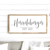 Last Name Wooden Wall Sign