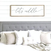 Lets Cuddle Wooden Wall Sign