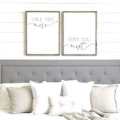Love Your More Love You Most Wooden Wall Sign