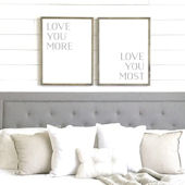 Love You More Capital Letters Wooden Wall Sign