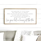 Love Grows Best Wooden Wall Sign