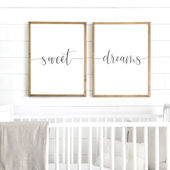 Sweet Dreams Wooden Wall Sign