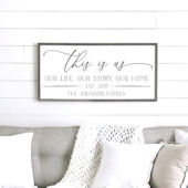This is Us Wooden Wall Sign