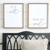 It Is Well With My Soul Wooden Wall Sign