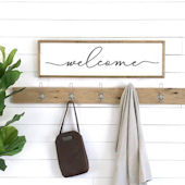 Welcome Wooden Wall Sign