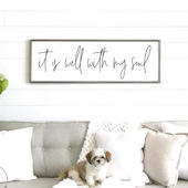 It is Well With My Soul Script Wooden Wall Sign