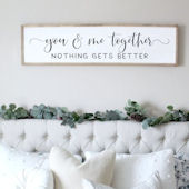 You And Me Together Wooden Wall Sign