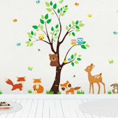 Climbing Bear Wall Decals
