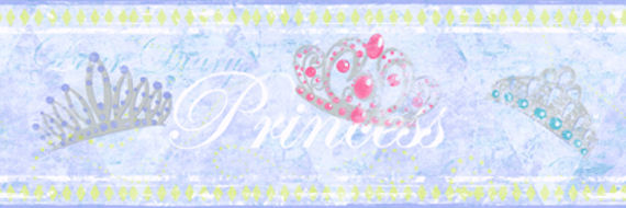 Candice Olson Blue Princess Border SALE - Wall Sticker Outlet