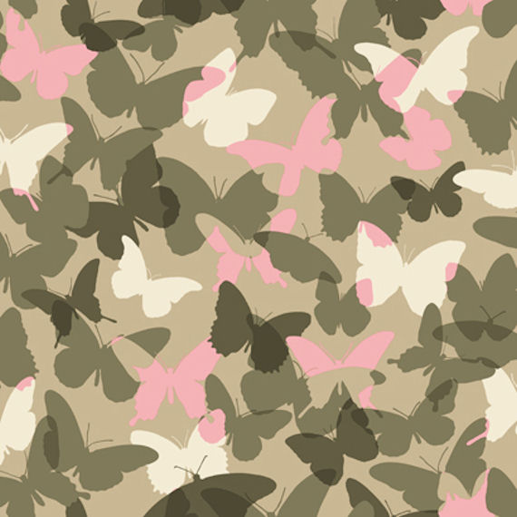 Candice Olson Pink and Green Camo Wallpaper - Kids Wall Decor Store