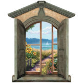 Coastal View 1 Chateau Window Peel and Stick Mural