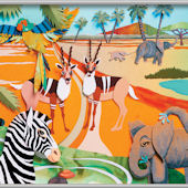 Colorful 3D Safari 2 Minute Mural