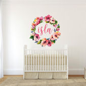 Urbanwalls Colorful Name Wreath Wall Decals