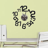 Contemporary Clock and Wall Decals