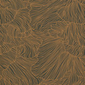 Ferm Living Coral Dark Green Gold Wallpaper
