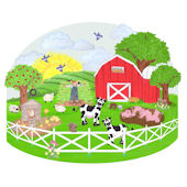 Create a Mural Barnyard Wall Sticker