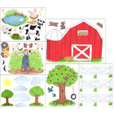 Create a Mural Barnyard Wall Sticker Kit