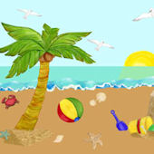 Beach Days Large Peel and Stick Mural Kit
