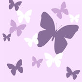 Butterfly Purple Lilac and White Wall Decals