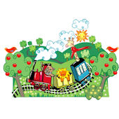 Create a Mural Choo Choo Train Wall Sticker