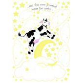 Create a Mural Cow Jumping over Moon Wall Sticker