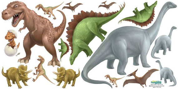 Large Dinosaur Wall Decals  - Kids Wall Decor Store