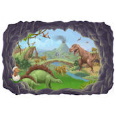 Dinosaur Adventure Wall Sticker Multiple Sizes