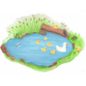 Create a Mural Duck Pond Wall Sticker