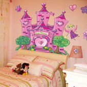 Princess Fairy Castle Peel and Stick Wall Mural
