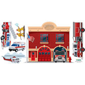 Create a Mural Fire Station Wall Sticker