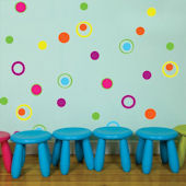 Fun Dots and Circles Wall Decals