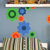 Fun Gears Peel and Stick Wall Mural