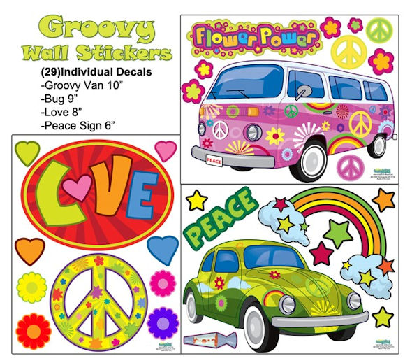 Groovy Wall Decals - Wall Sticker Outlet
