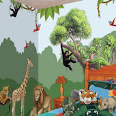 Jungle Adventure Large Peel and Stick Mural