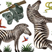 Jungle Animal Wall Mural 1