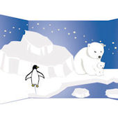 Polar Region Large Peel and Stick Mural