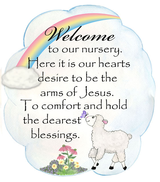 Little Lamb Nursery Welcome Decal - Wall Sticker Outlet