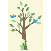 Create a Mural Nursery Tree Wall Sticker