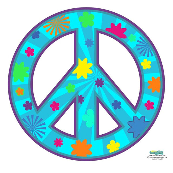peace sign teal wall decal my wonderful walls paisley peace sign wall sticker kit